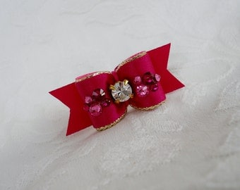 "Dog Bow- 5/8"" Sparkling Berries"