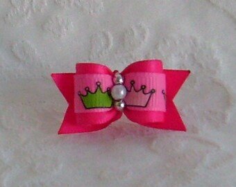 5\/8 Pink Princess Bow