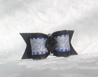 5/8 Onyx Sparkle Bow
