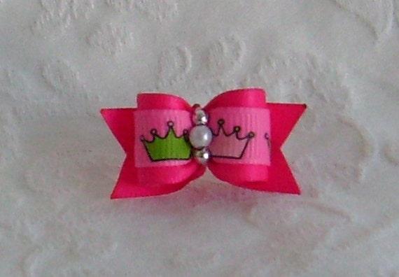 5\/8 Pink Princess Bow