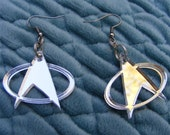 Mirrored Acrylic Star Trek Earrings