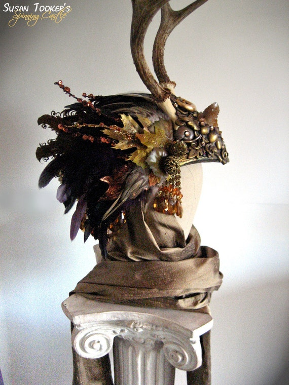 Antler Headdress Celtic Ritual Crown Fairy Costume Offbeat