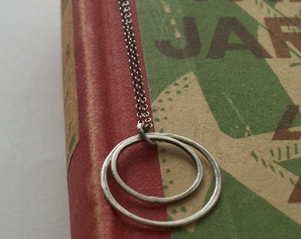 Go Go silver circles on oxidized sterling silver