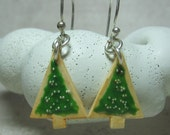 Mini Christmas Tree Sugar Cookie Earrings