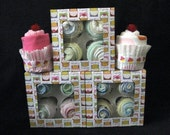 Baby Washcloth Cupcakes- 4 pack MADE TO ORDER