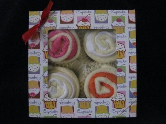 Baby Bib Cupcakes-12 items Girl