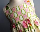 Springtime Floral Reverse Knot Dress