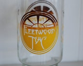 Vintage 1970's graphic MOD Fleetwood Mac rock and roll memorabilia X Large tumbler glass cup