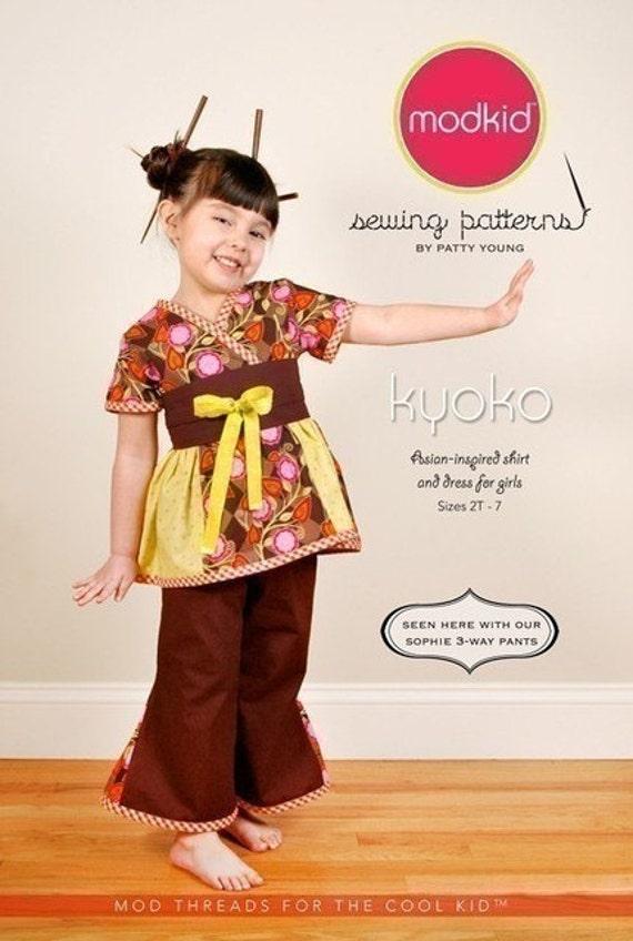 Kyoko Sewing Pattern by Mod Kids Boutique\/Patty Young