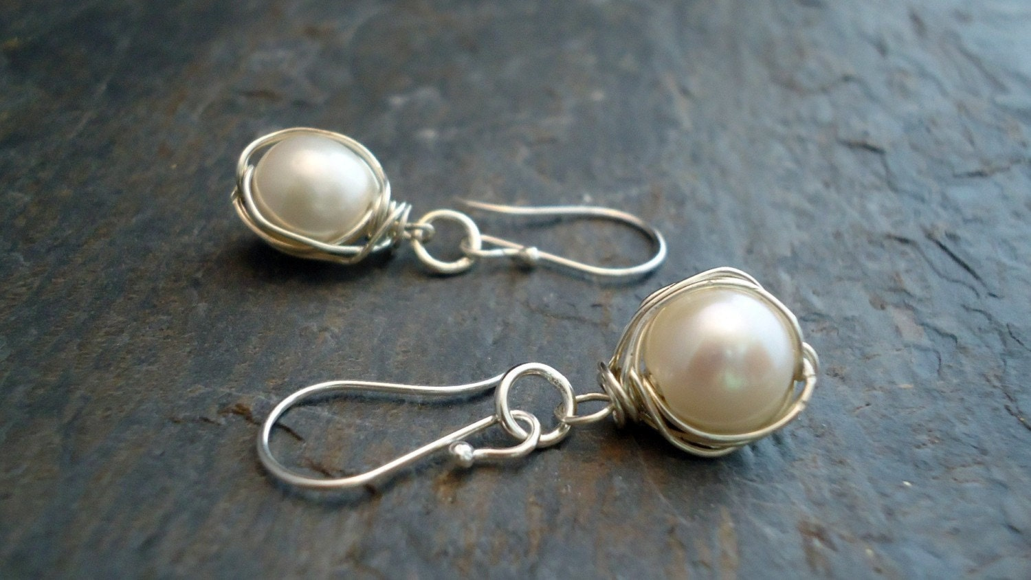 Pearls,wrapped,in,sterling,silver,earrings,Jewelry,Earrings,sterling_earrings,pearl_earrings,wire_wrapped,wrapped_pearls,wire_work,sterling_silver,ocean,bridal_gifts,wrap_wire_earrings,wrap_wire_pearls,wrap_wire_jewelry,pea_pod,sterling silver,freshwater pearls