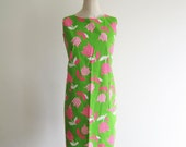 1960s dress ( NEON TULIP ) deadstock