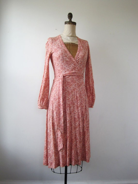1970s Original Diane Von Furstenberg Wrap Dress