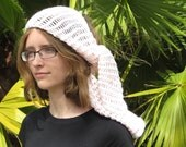 On Clearance Handmade Crochet Boho Style Headscarf in Sakura