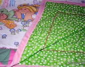 Cabbage Patch inspired quilted crib comforter