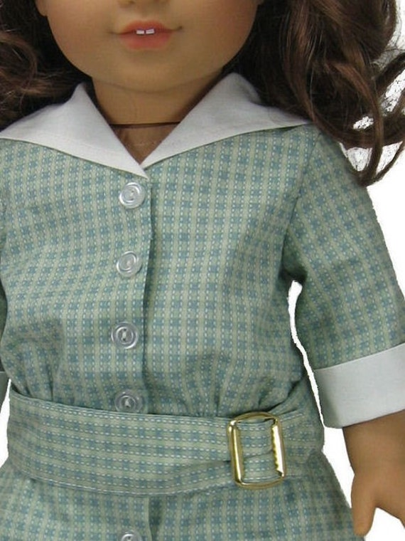 1900s Sailor Dress PDF sewing pattern for 18 inch American Girl Doll drop waisted button front