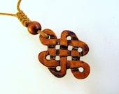 Brown Celtic Knot Carved Bone Necklace