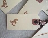 bird gift tag set