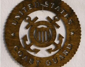 U.S. Coast Guard Insignia Cutout.