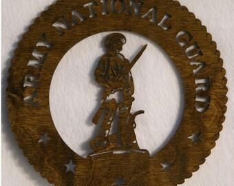 U.S. National Guard Insignia Cutout.
