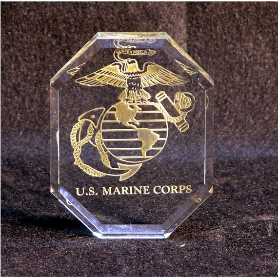 Military Glass Paper Weight.