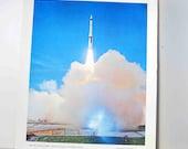 North American Aviation, Inc. Print of USAF Minuteman ICBM Photograph Poster