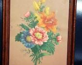 Vintage Floral Print Marked IFC