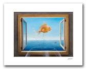 "Goldfish Dreams - 11x14"" Matted Print Reproduction"