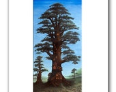 "Treehouse - 11x14"" Matted Print Reproduction"