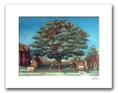 "Neighborhood Treehouse - 11x14"" Matted Print Reproduction"