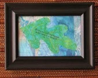 Framed Quilted Art Oak Leaf