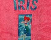 Personalized Hooded Towel (Ariel-Little Mermaid)