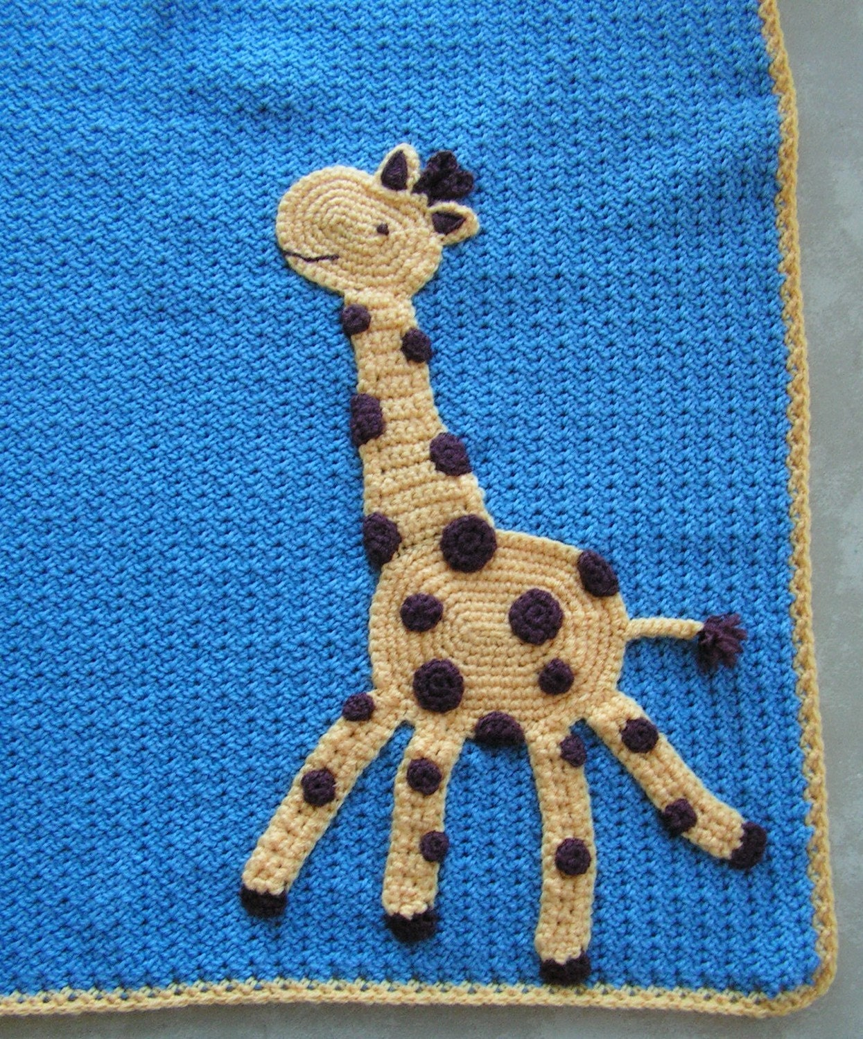 Crocheted Giraffe Baby Blanket