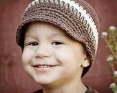 CROCHET PATTERN Visor Beanie PATTERN(newborn-preteen)