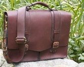 The Traveler - hand stitched leather satchel