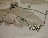 Lucky Clover Moonstone Anklet and Toe Ring -Averitasm-artifact