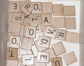 42 Scrabble Tiles for Crafts and Scrapping destash
