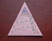 Pyramid of Bum Bear Girls BIG Triangular Sticker