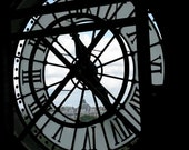 50% off Clearance, Time- postcard- Clock in Paris France