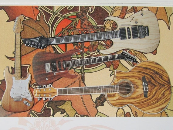 Wood you like to play- Guitar Magnet Set