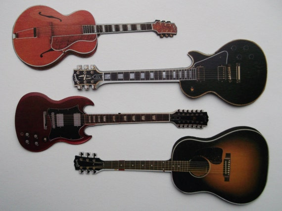 Once you go Gibson... Guitar Magnet Set