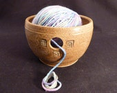 WheelWorksPottery - Yarn Bowl - Toasted Cinnamon