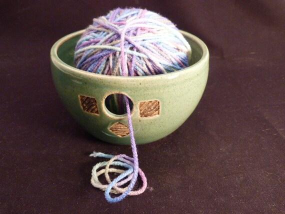WheelWorksPottery - Yarn Bowl - Spring Meadow