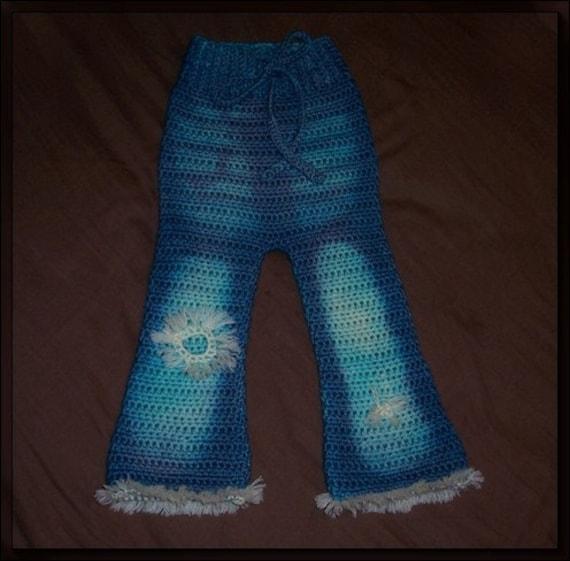 Boutique Distressed\/Vintage Jean-Look Wool Soaker Longies