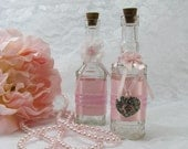 Shabby Chic Vanity Bottles, Shabby Chic Decor,
