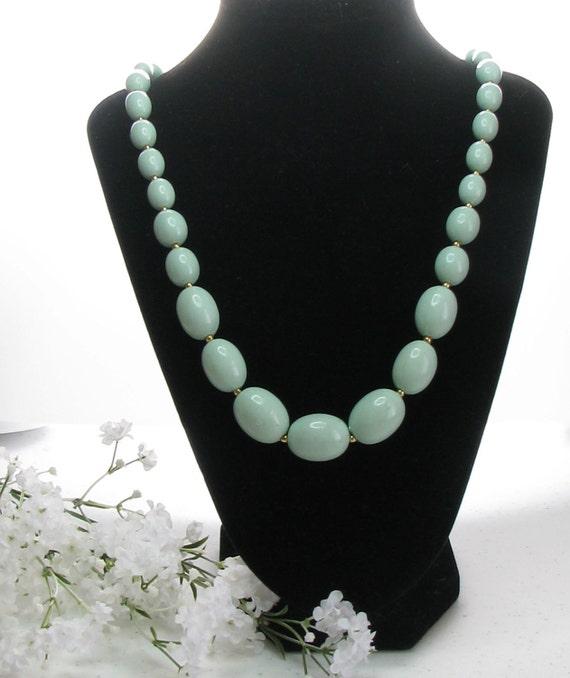1950 Mint  Green Necklace, Vintage Mint Green,Vintage Beads,Vintage Beads