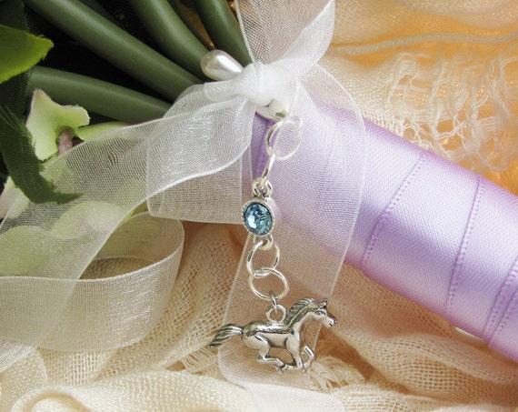 Horse Bouquet Charm, Western Wedding, Bridal Bouquet Charm, Bridal Accessories, Horse