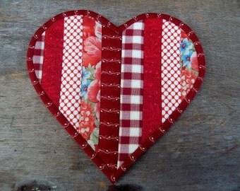 Valentine Heart  Mug Rug/Pot Holder