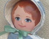 SARAH, a Painted Cloth Doll