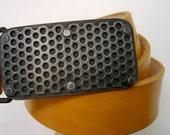 Mesh Buckle hand fabricated steel belt buckle on SALE
