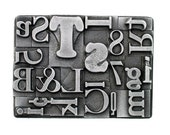 belt buckle letterpress - Multifont Buckle by Steel Toe Studios - buckle for snap leather belt -